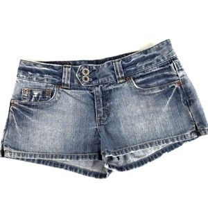 American Eagle Outfitters button flap denim shorts